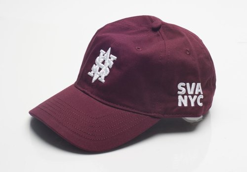 Monogram Dad Cap - Maroon