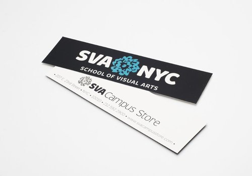 SVA Logo Bumper Sticker - Black
