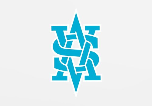 Benguiat Monogram Decal - Blue