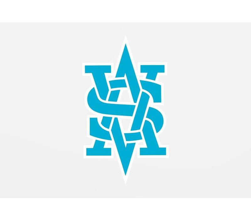 Benguiat Monogram Decal - Blue