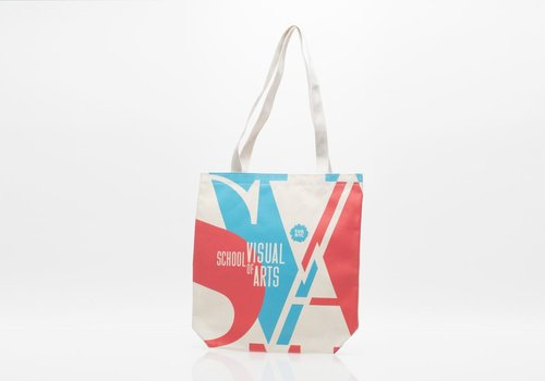 SVA Two Color Tote - Red & Blue
