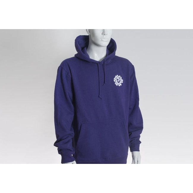 SVA Embroidered Flower Hoodie (Purple)