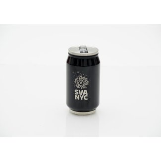 SVA Logo Soda Can Sip Cup - Black