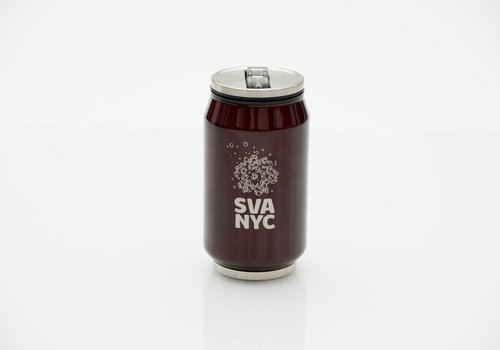 SVA Logo Soda Can Sip Cup - Burgandy