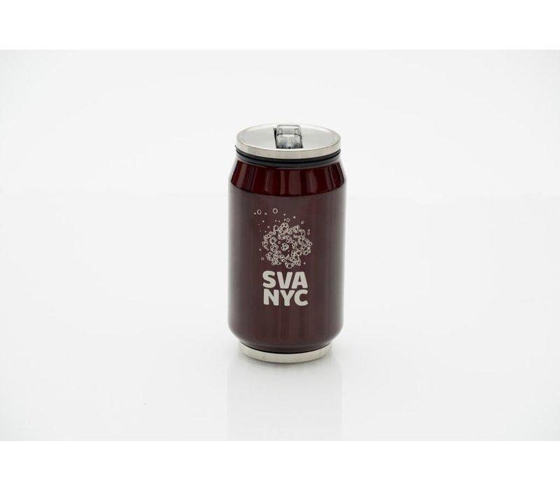 SVA Logo Soda Can Sip Cup - Burgandy