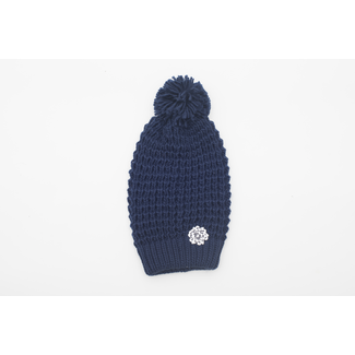 SVA Flower Knit Hat - Navy