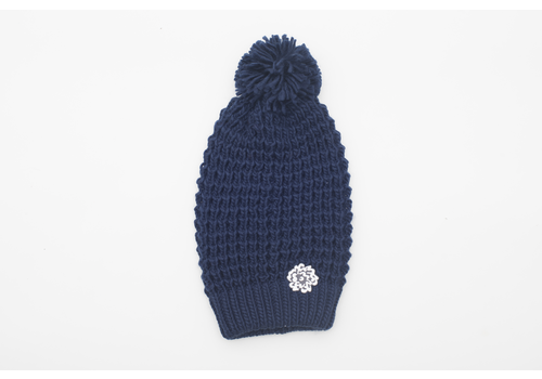 SVA Flower Knit Hat (Navy)