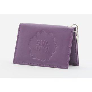 SVA Splat Logo Leather Snap Wallet - Violet