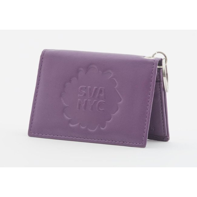 SVA Splat Logo Leather Snap Wallet - Violet