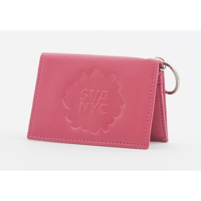 SVA Splat Logo Leather Snap Wallet (Fuchsia)