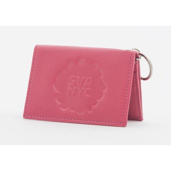 SVA Splat Logo Leather Snap Wallet (Fuchsia)