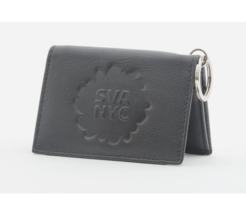 SVA Splat Logo Leather Snap Wallet - Black