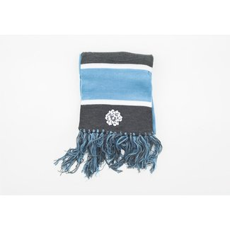 SVA Flower Logo Gray + Blue Stripe Scarf