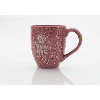 SVA Logo Mug - Pink Speckled