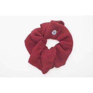 SVA Flower Infinity Scarf - Crimson
