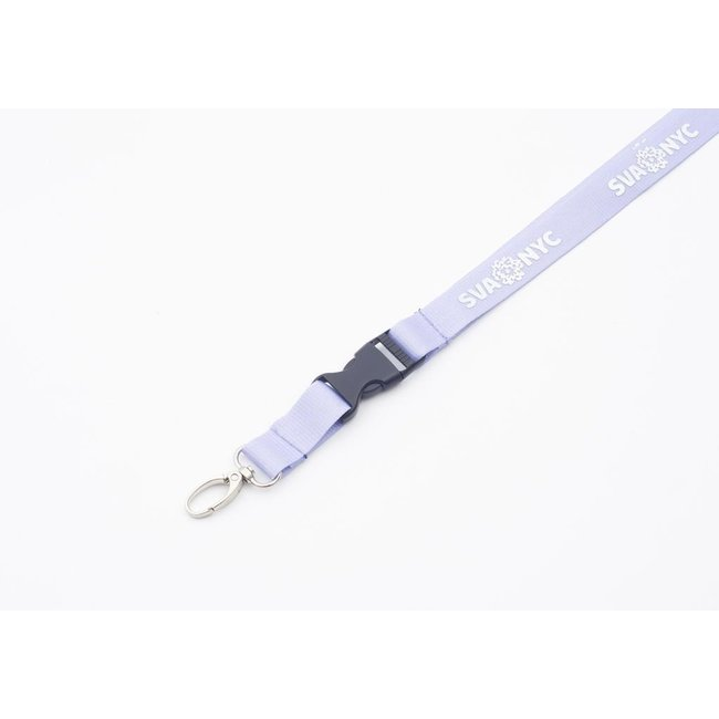 SVA Lanyard - Lavender w/ Silver Ink + ID Holder