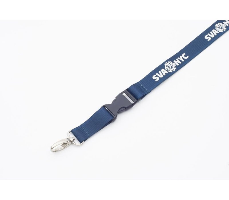 SVA Lanyard - Navy w/ Silver Ink + ID Holder