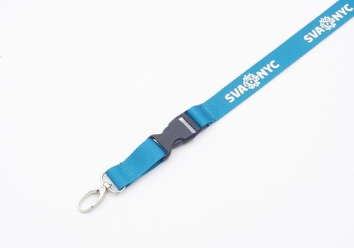 SVA Lanyard - Dark Teal w/ Silver Ink + ID Holder