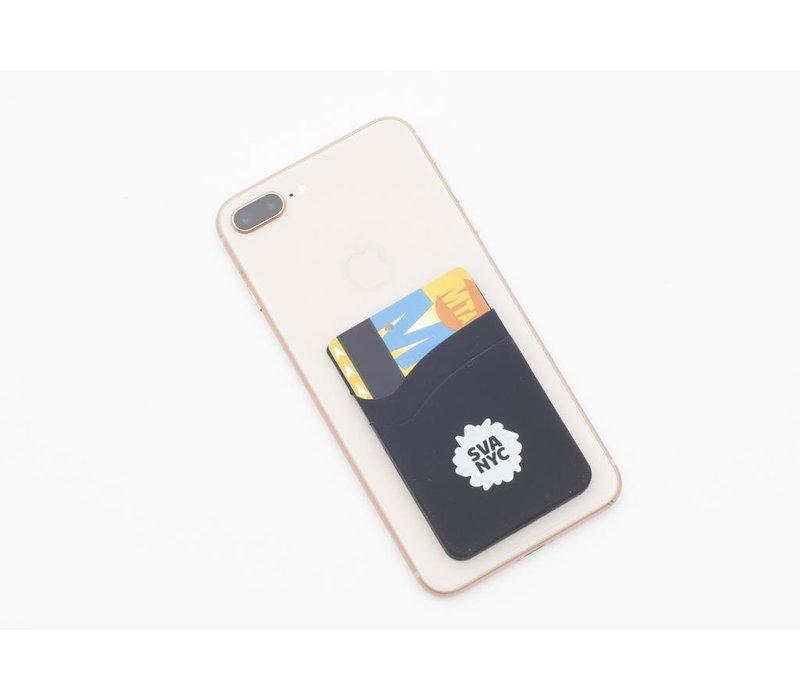 SVA NYC Cell Phone Wallet Black, 2 pocket