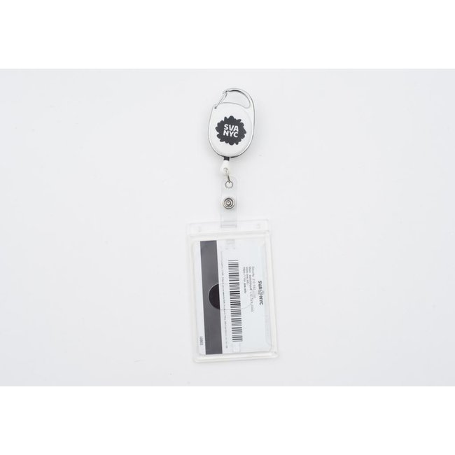 SVA Spat Logo Retractable Badge Holder w/ Rigid ID Holder