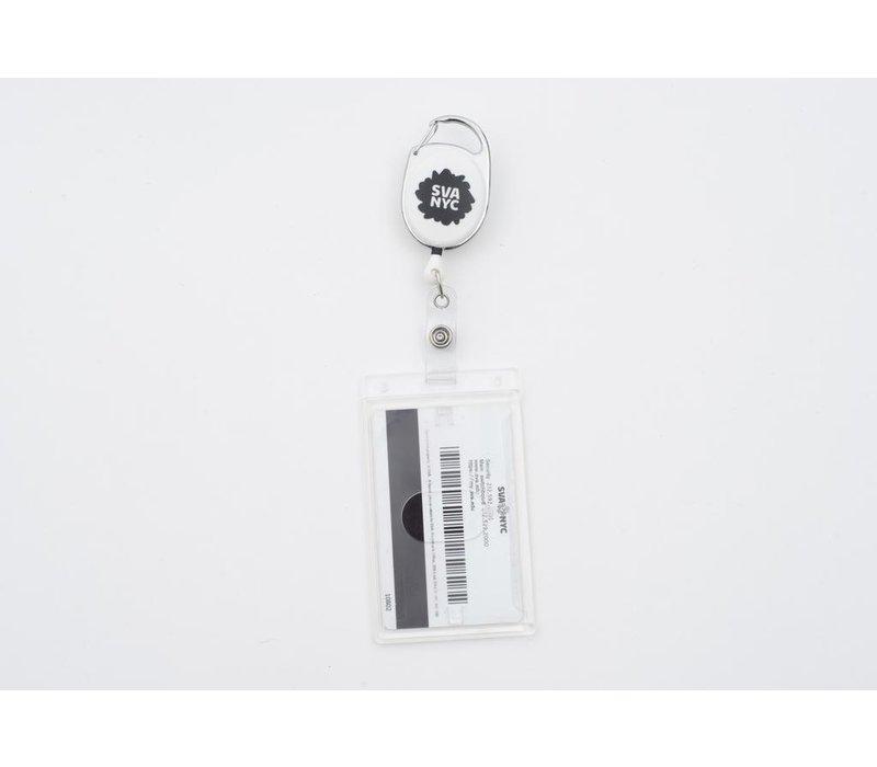 SVA Spat Logo Retractable Badge Holder w/ Rigid ID Holder