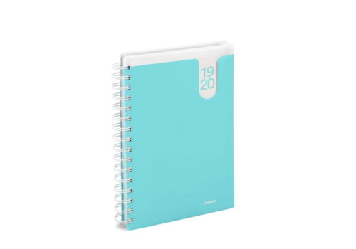 18M Medium Pocket Book Planner, 2019-20 (Aqua)