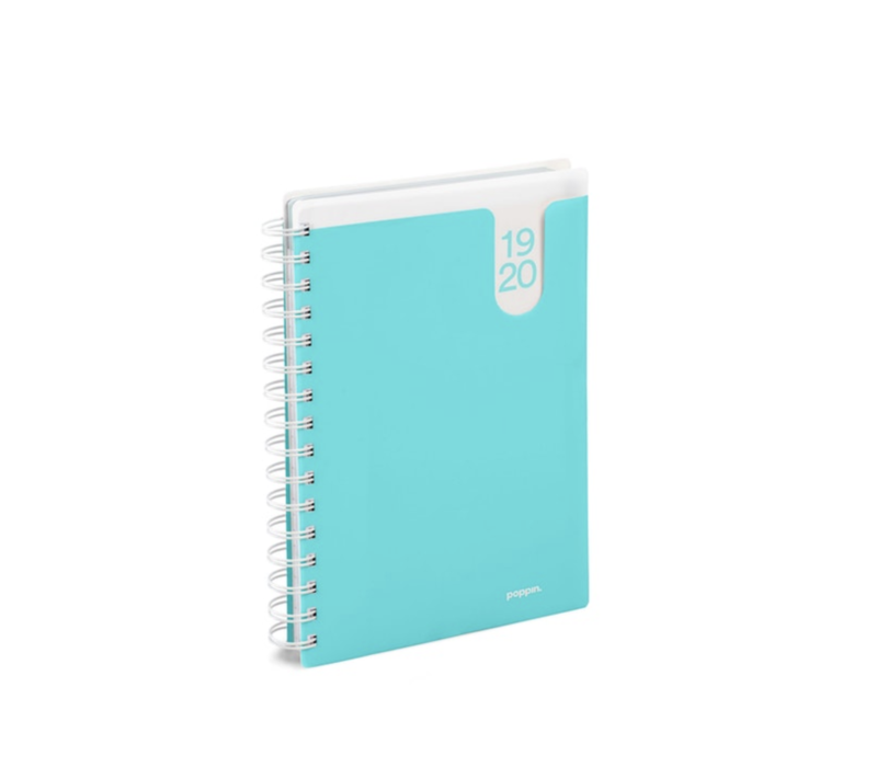 18M Medium Pocket Book Planner, 2019-20 (Aqua)