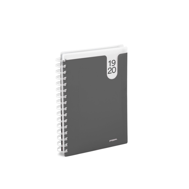 18M Medium Pocket Book Planner, 2019-20 (Dark Gray)