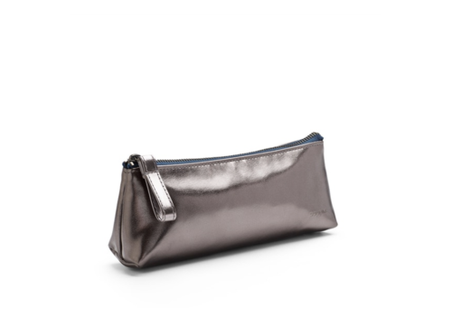Poppin Gunmetal + Navy Pencil Pouch