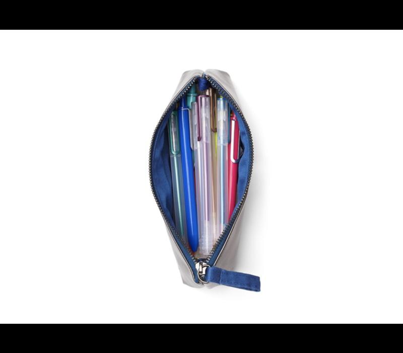 Poppin Gunmetal + Navy Pencil Pouch