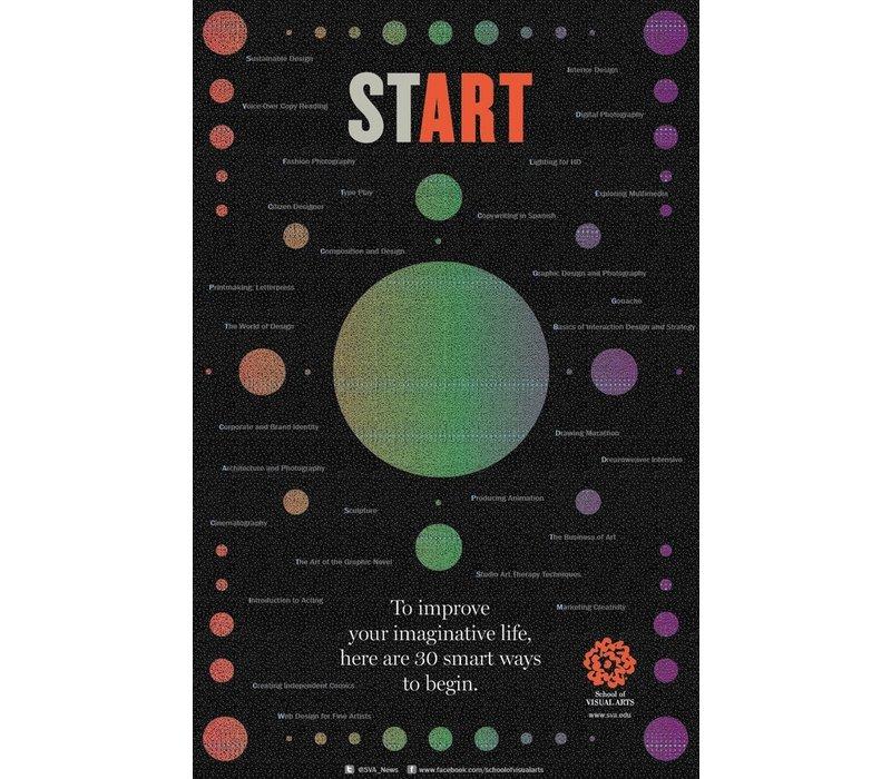 Milton Glaser - Start (Small Poster)