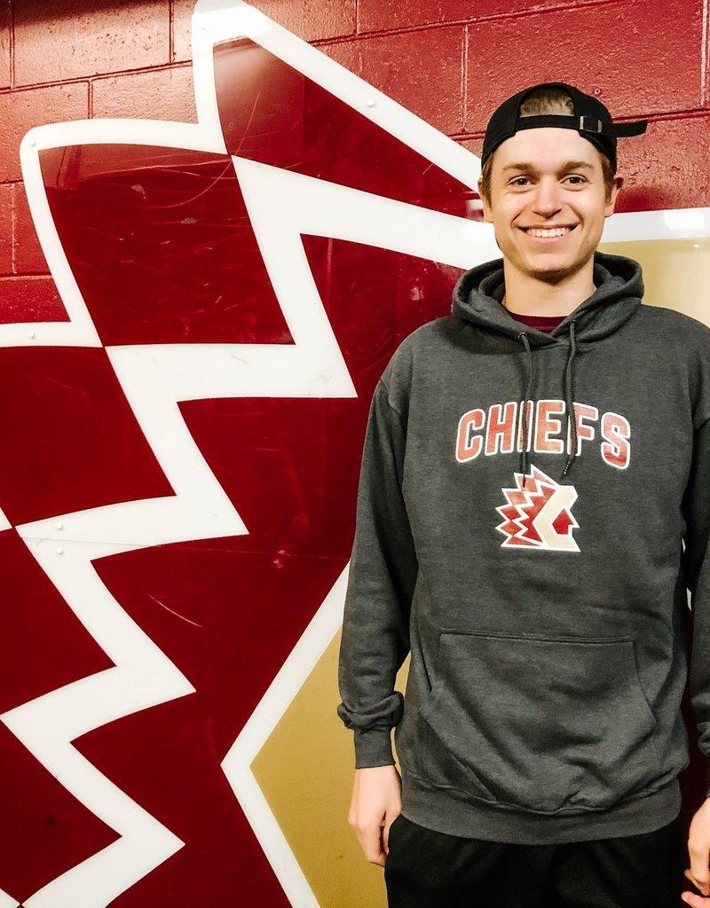 ATC Grey hoodie w/ Chiefs logo -2XL