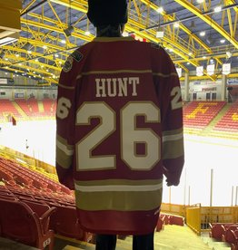 17-18 Game Worn Jersey Red #26 - Hunt