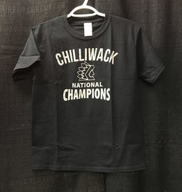Youth Black Championship T W/ Grey Logo