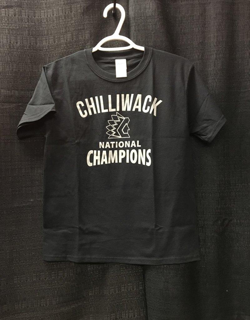 Youth Black Championship T W/ Grey Logo