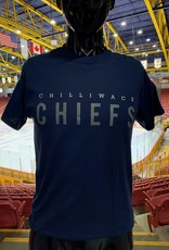 "Adult Navy T W/  Grey ""Chilliwack Chiefs"""