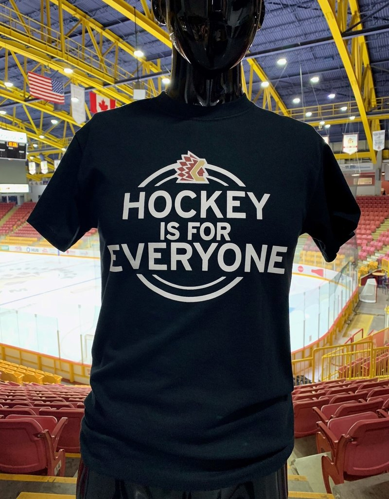 "Adult Black ""HOCKEY IS FOR EVERYONE"" T"