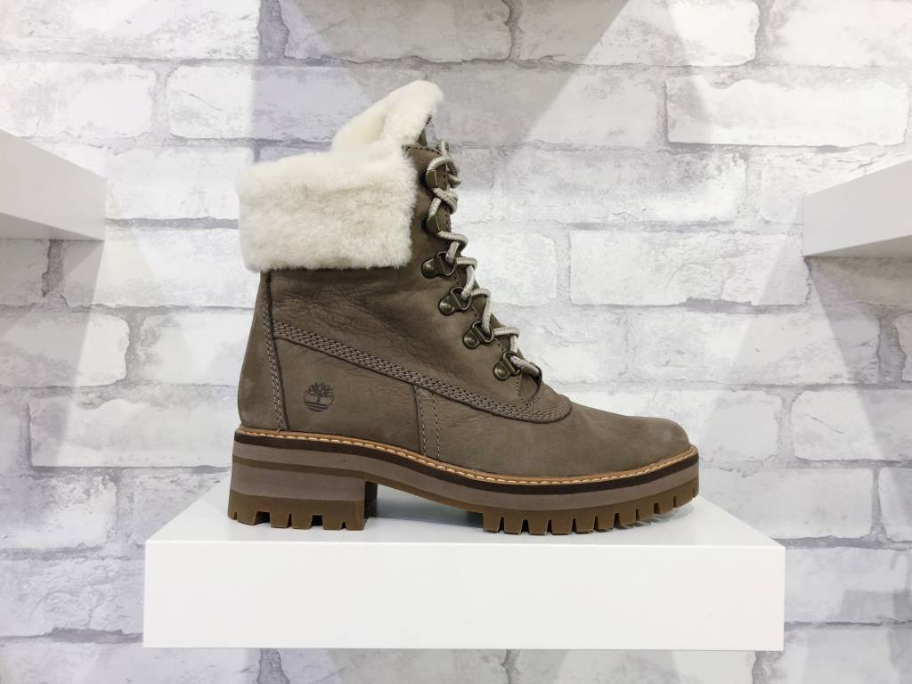 Timberland Courmayeur Valley Shearling-Lined Boots Taupe