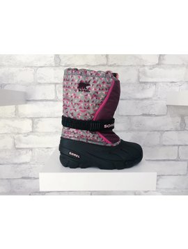 Sorel Footwear Youth Flurry Black/Purple Dahlia