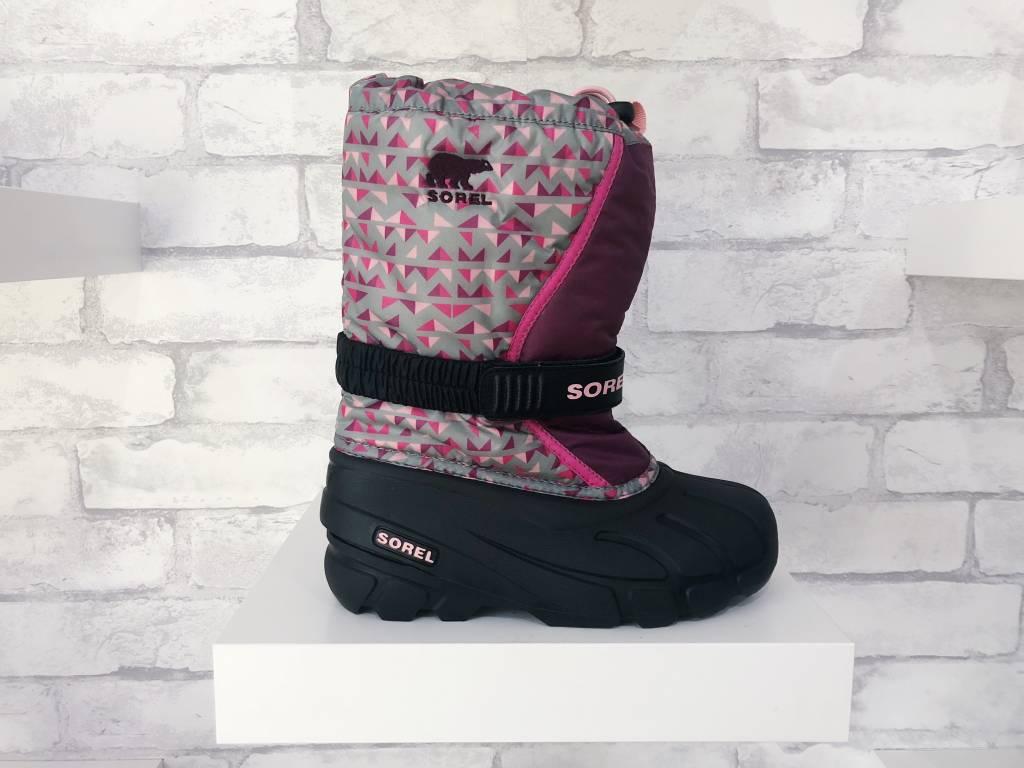 Sorel Footwear Youth Flurry Black/Purple Dahlia