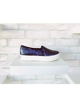 Keds Triple Decker Sequin Navy