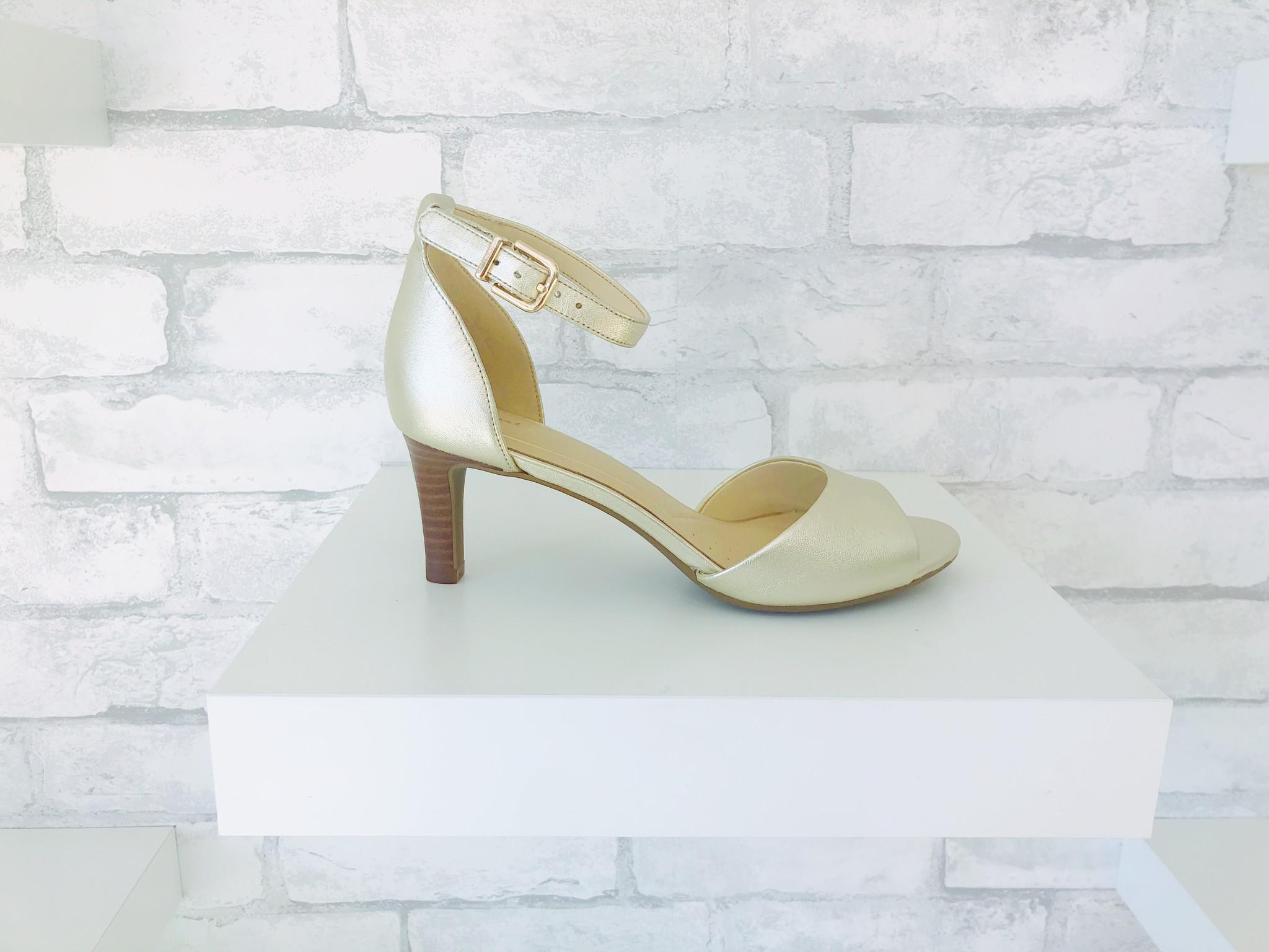 675a3901baeb Clarks Laureti Grace Heel Champagne - SOLE Shoes Inc.