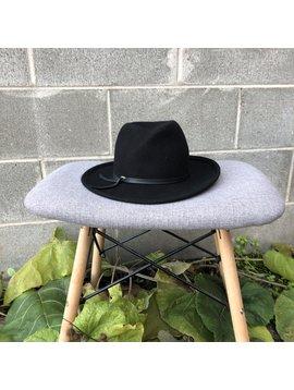 Canadian Hat Farrah Handmade Felt Hat Black