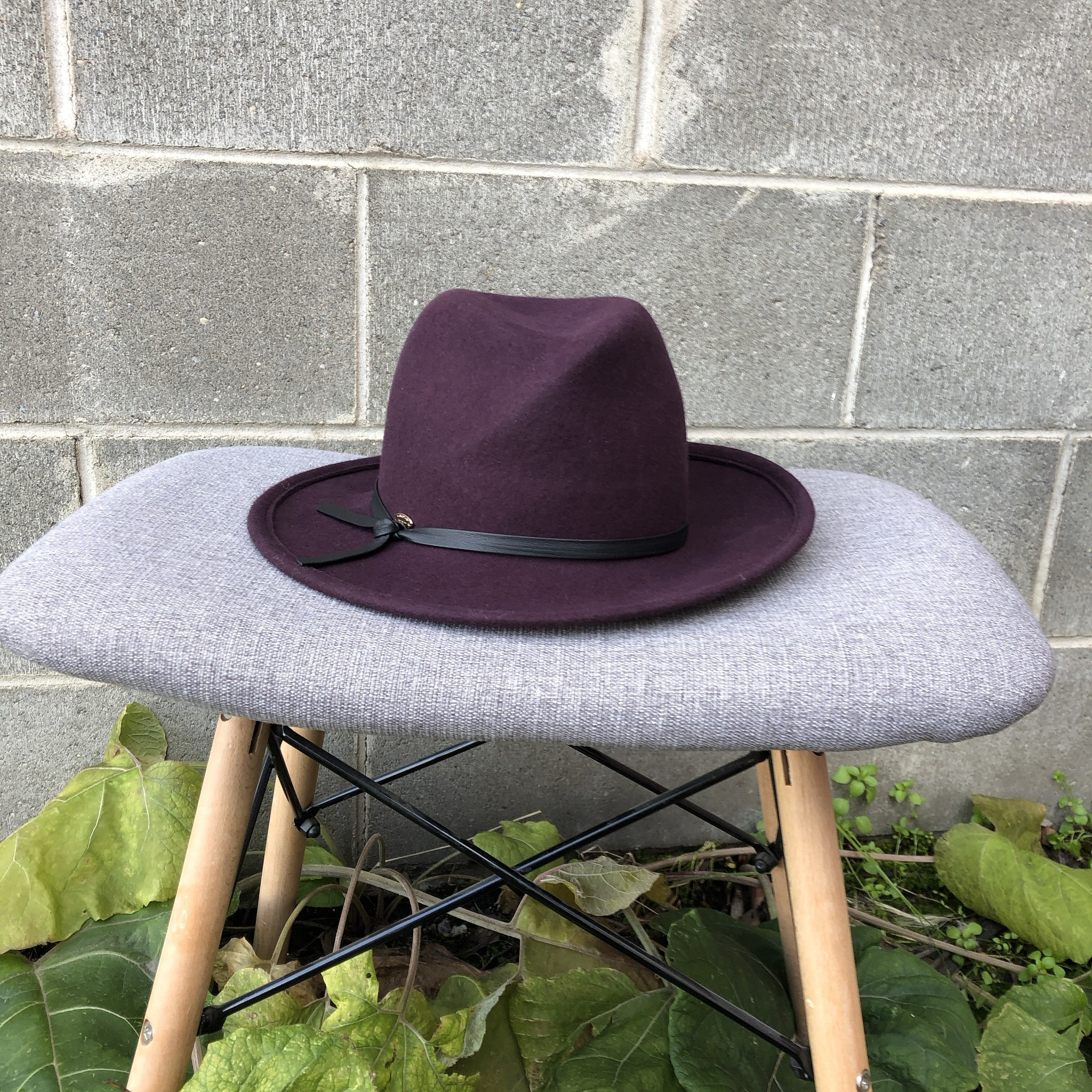Canadian Hat Farrah Handmade Felt Hat Plum