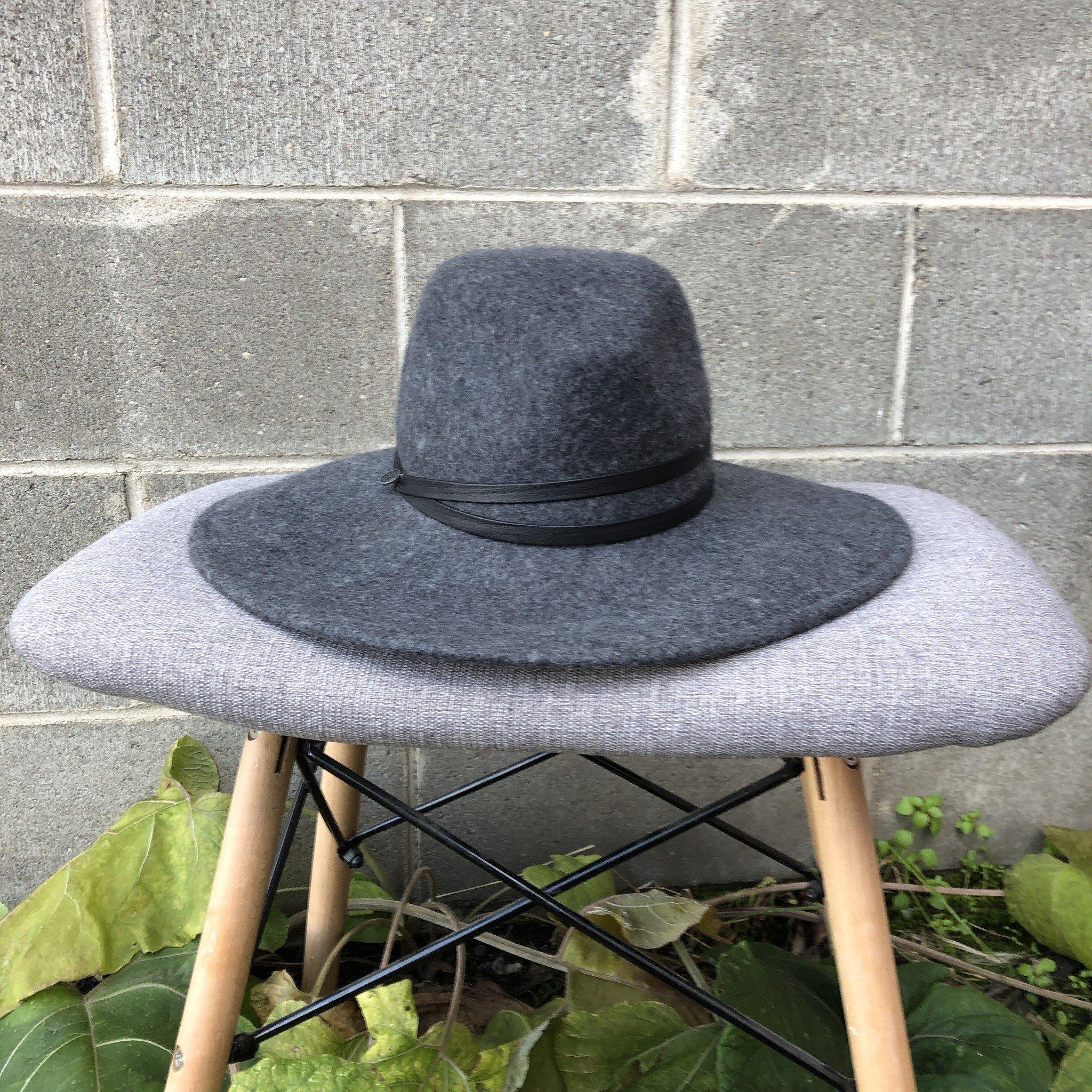 Canadian Hat Whitney Waterproof Felt Floppy Hat Charcoal