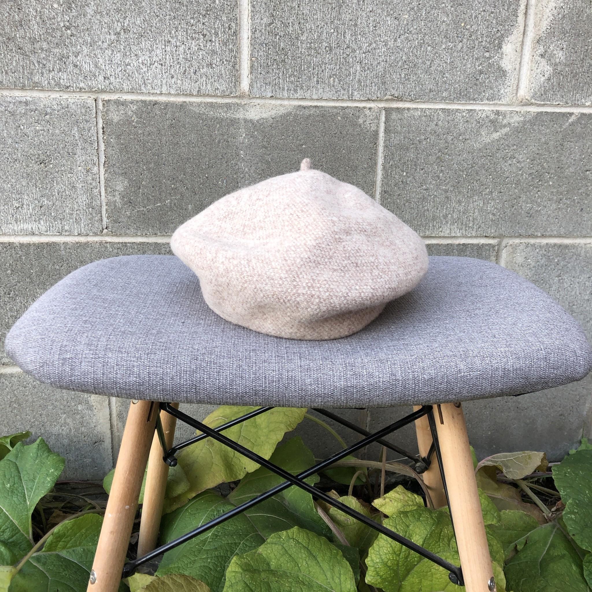 Canadian Hat Bali Beret Tweed Beige