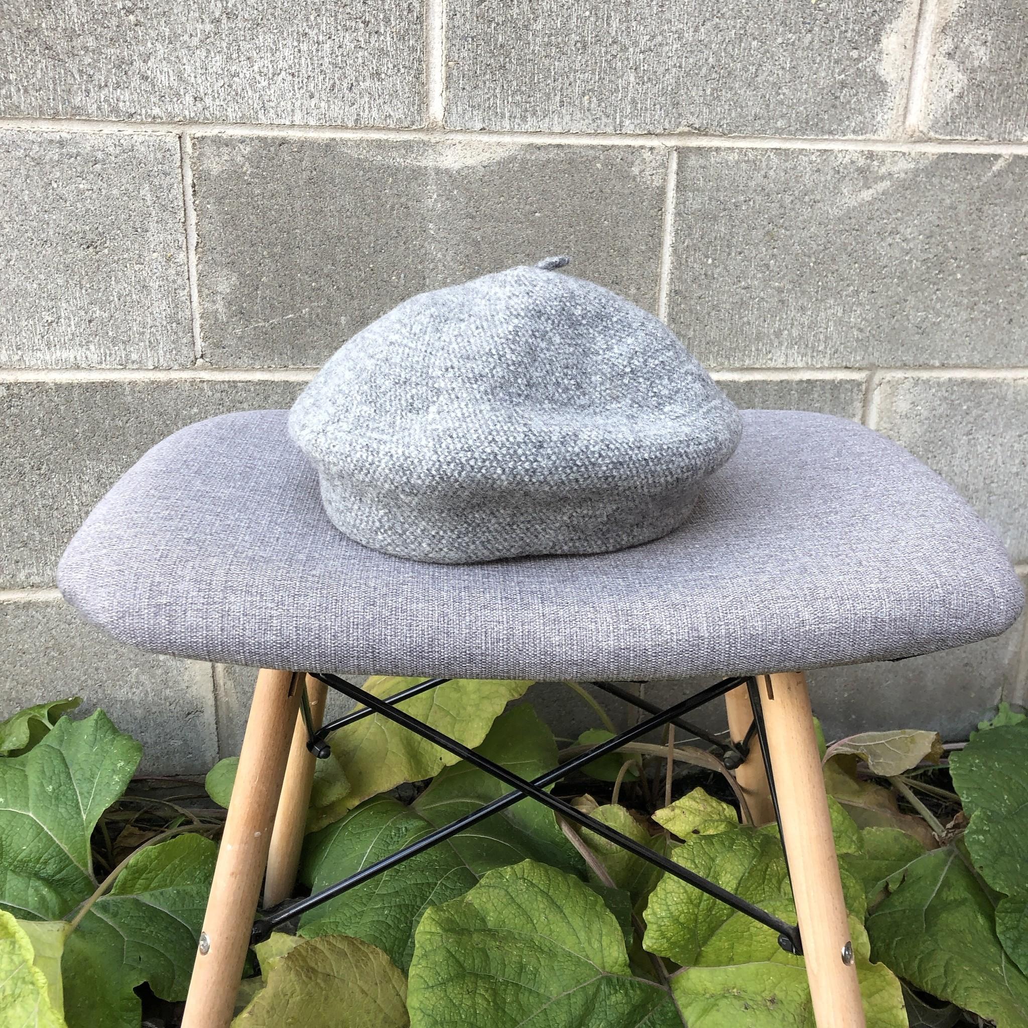 Canadian Hat Bali Beret Tweed Grey