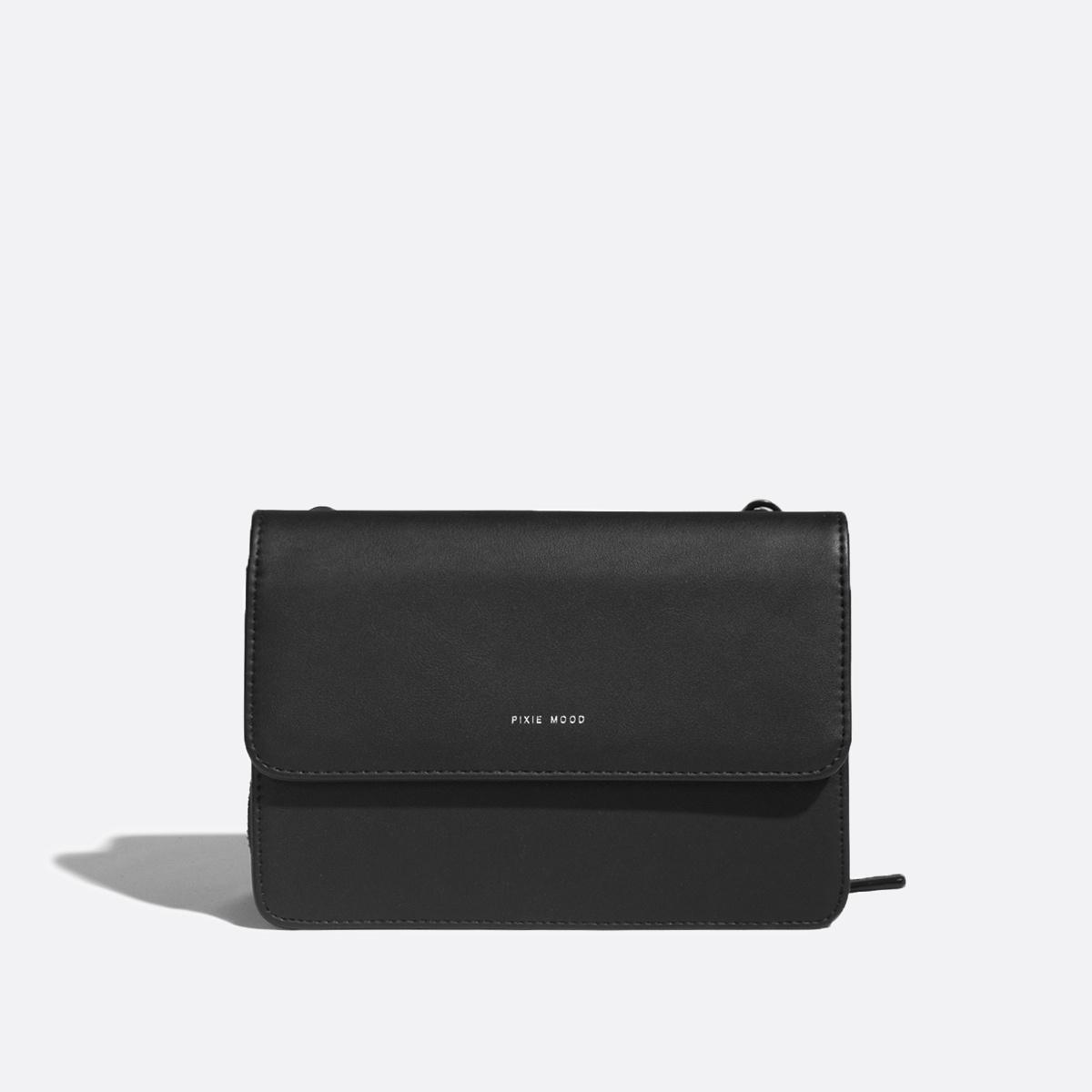 Jane 2 in 1 Wallet Purse Black Nubuck