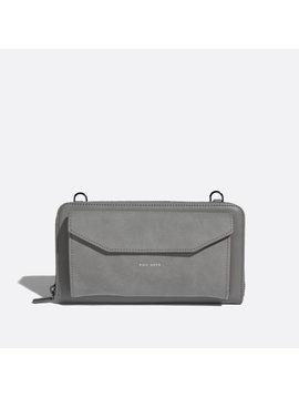 Frances Zip Around Wallet Grey Nubuck