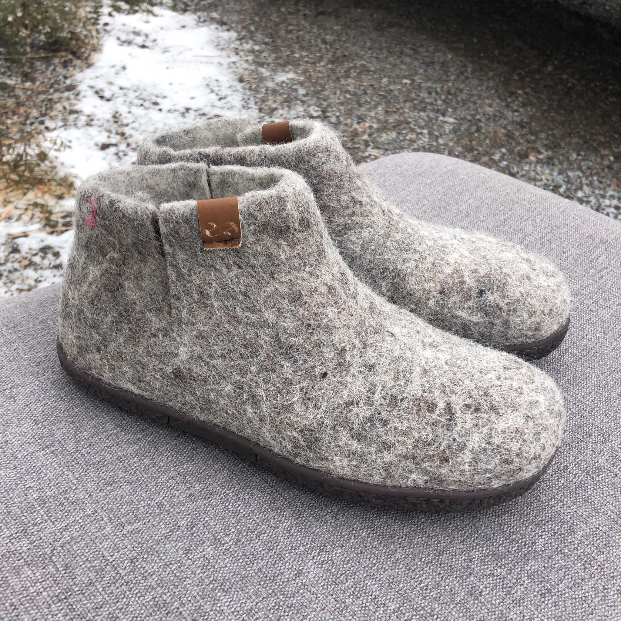 Nepal Slipper Bootie Grey